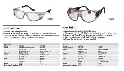 عینک ایمنی uvex مدل FUTURA 9180