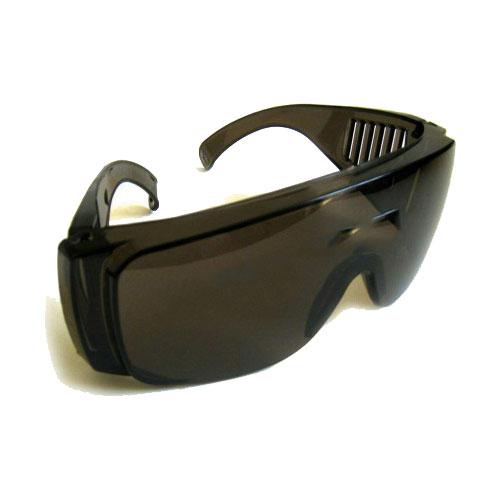 عینک ایمنی بغل دار کرکره ای تک پلاست